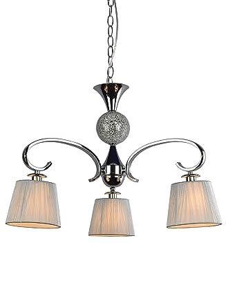 Lampe suspension chambre ou salon | Chrome, boule mosaïque