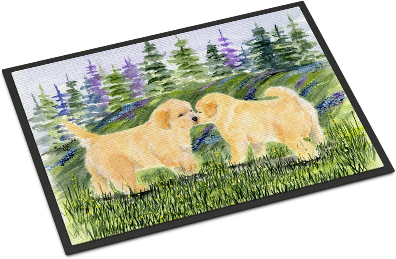 Caroline s Treasures SS8102JMAT Golden Retriever Indoor or Outdoor Mat 24×36 Doormat, 24H X 36W, Multicolor