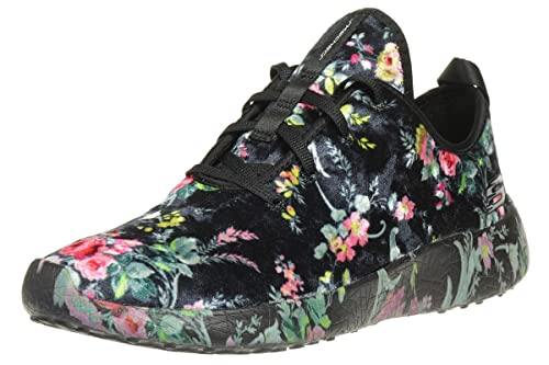 Skechers Womens Burst Hit The Town Sneaker Black/Multi Size 8.5