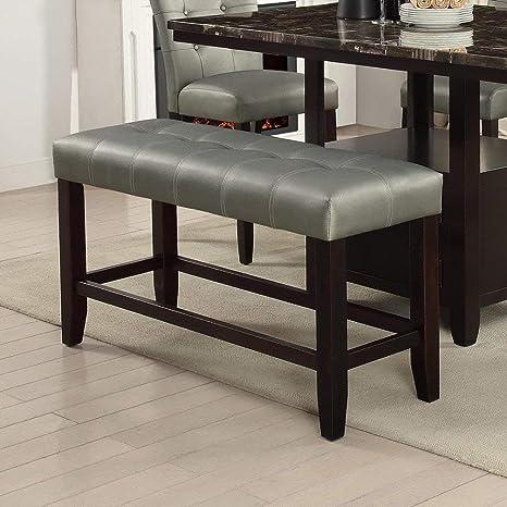 Astonishing Amazon Com Modern Silver Faux Leather Counter Height Machost Co Dining Chair Design Ideas Machostcouk