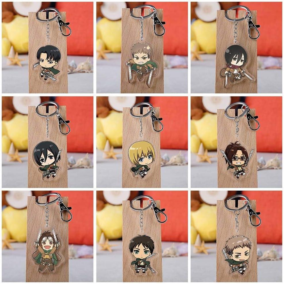 H05 CAR-TOBBY Anime Attaque sur Titan Mini Poup/ée Porte-cl/és Sac /À Dos Pendentifs Porte-cl/és Anime Figure Porte-cl/és Accessoires