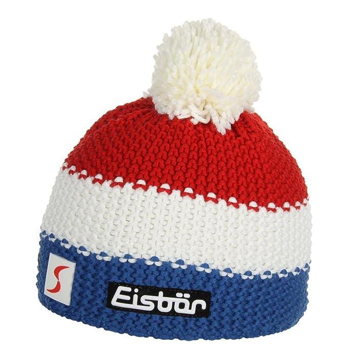 Cuffia con Pon Pon Francia Eisbär beanie tendenza berretto con pompon  Taglia unica - bianco 478de7b006b3