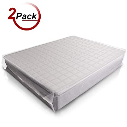 AdorioPower Queen Size Mattress Bag Super Thick Mattress Bag For Moving And Long Term Storage Reusable Tear And Puncture Resistant 2Pack