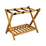 Casual Home Shelf- Honey Oak Luggage Rack