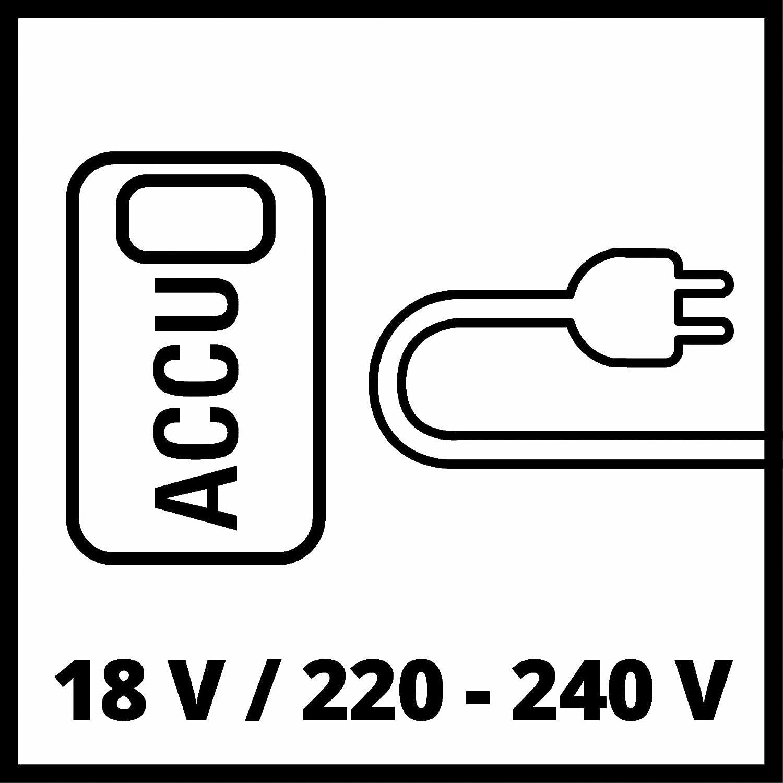 90 W Senza Batteria e Caricabatteria Nero Einhell 4020460 Compressore Ibrido Power X-Change Pressito Rosso 18 V