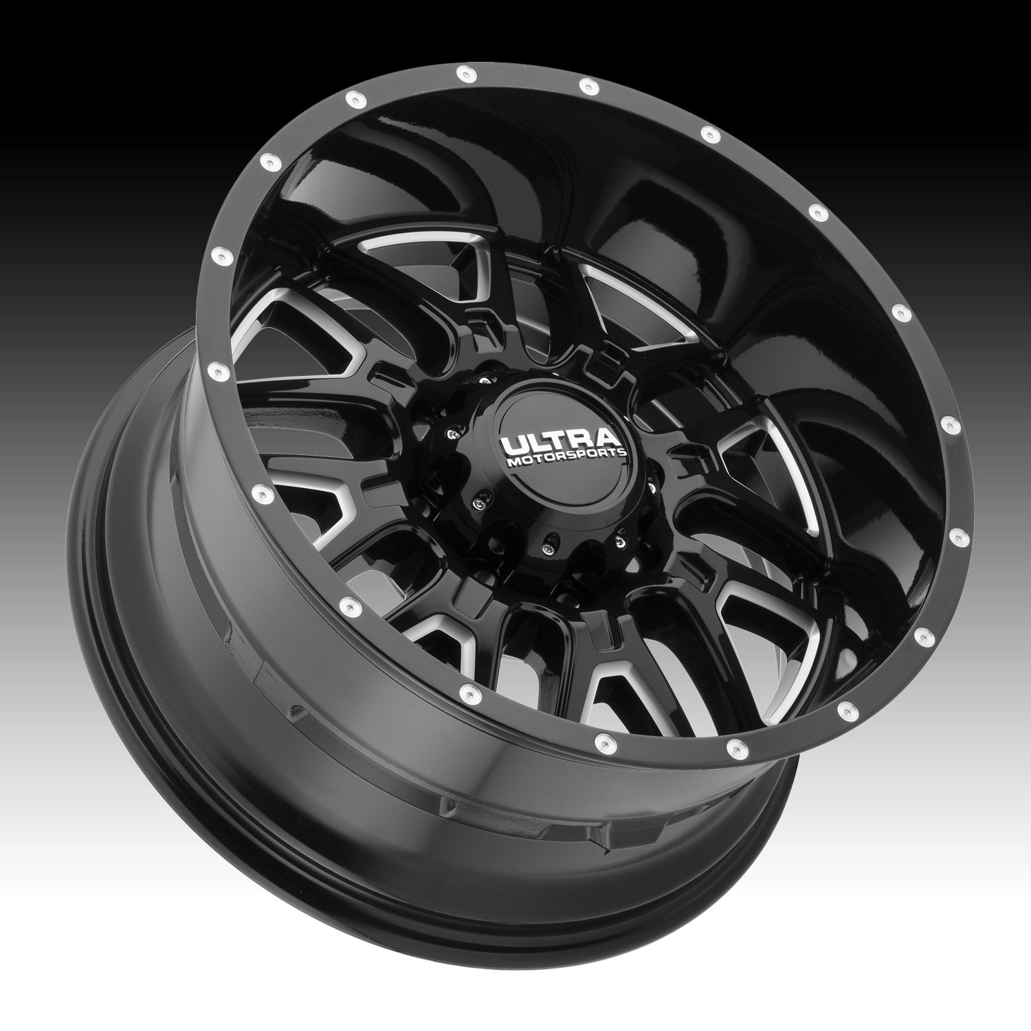 Ultra 203BM Hunter 18x9 5x127 +10mm Black/Milled Wheel Rim by Ultra (Image #2)