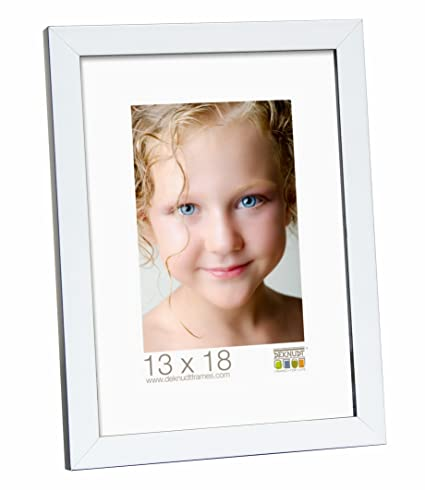 Amazon.com: Deknudt Frames S43AL1-10.0X15.0 White and Black Wooden ...