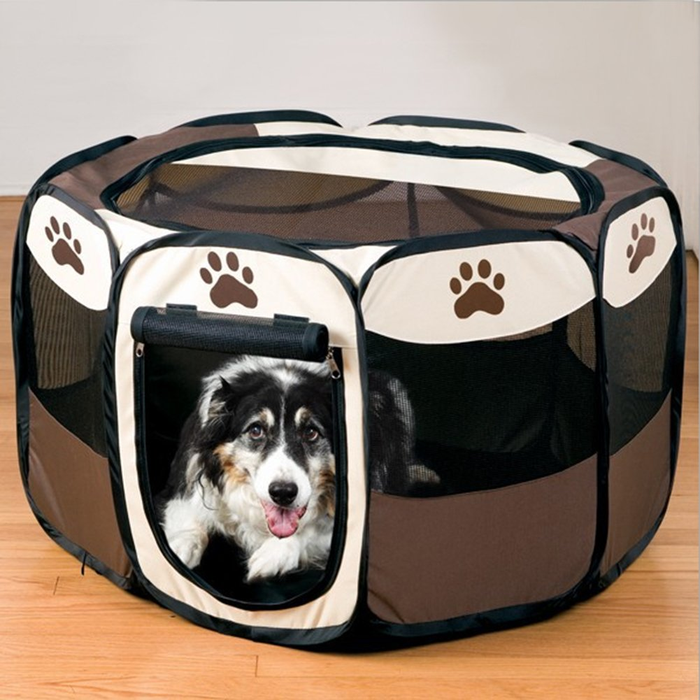 Media LOOYUAN Portable Doggie Play Pen Pet Playpen Piegatable Portable Dog /Cat /Puppy Esercizio Kensel