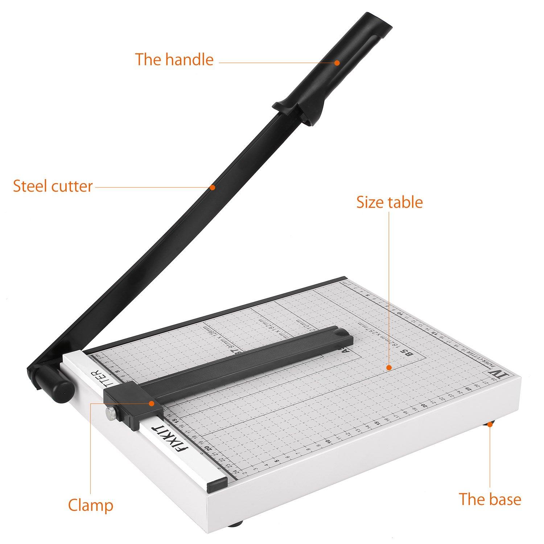 Etikett und Foto f/ür Gutschein FIXKIT Papierschneidemaschine Bastelpapier DIN A3 Hebelschneider mit einer Schnittl/änge von 48.5cm