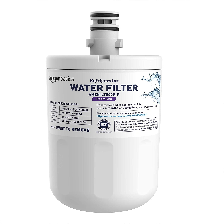 AmazonBasics Replacement LG LT500P Refrigerator Water Filter - Premium Filtration