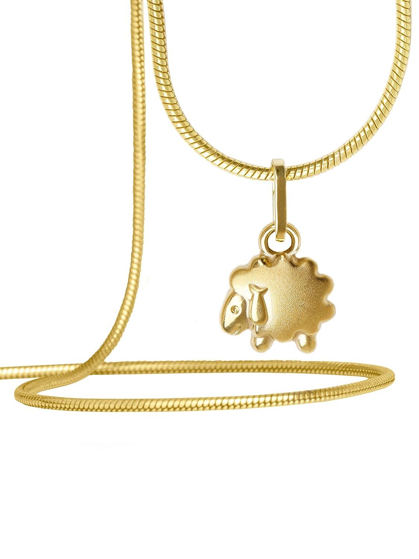 maciza mate brillo 15/mm x 8/mm cadena colgante de regalo para ni/ñas ni/ños Baby Sheepy a 03569/de G403 14/quilates MyGold Ovejas colgante de oro 585/oro amarillo