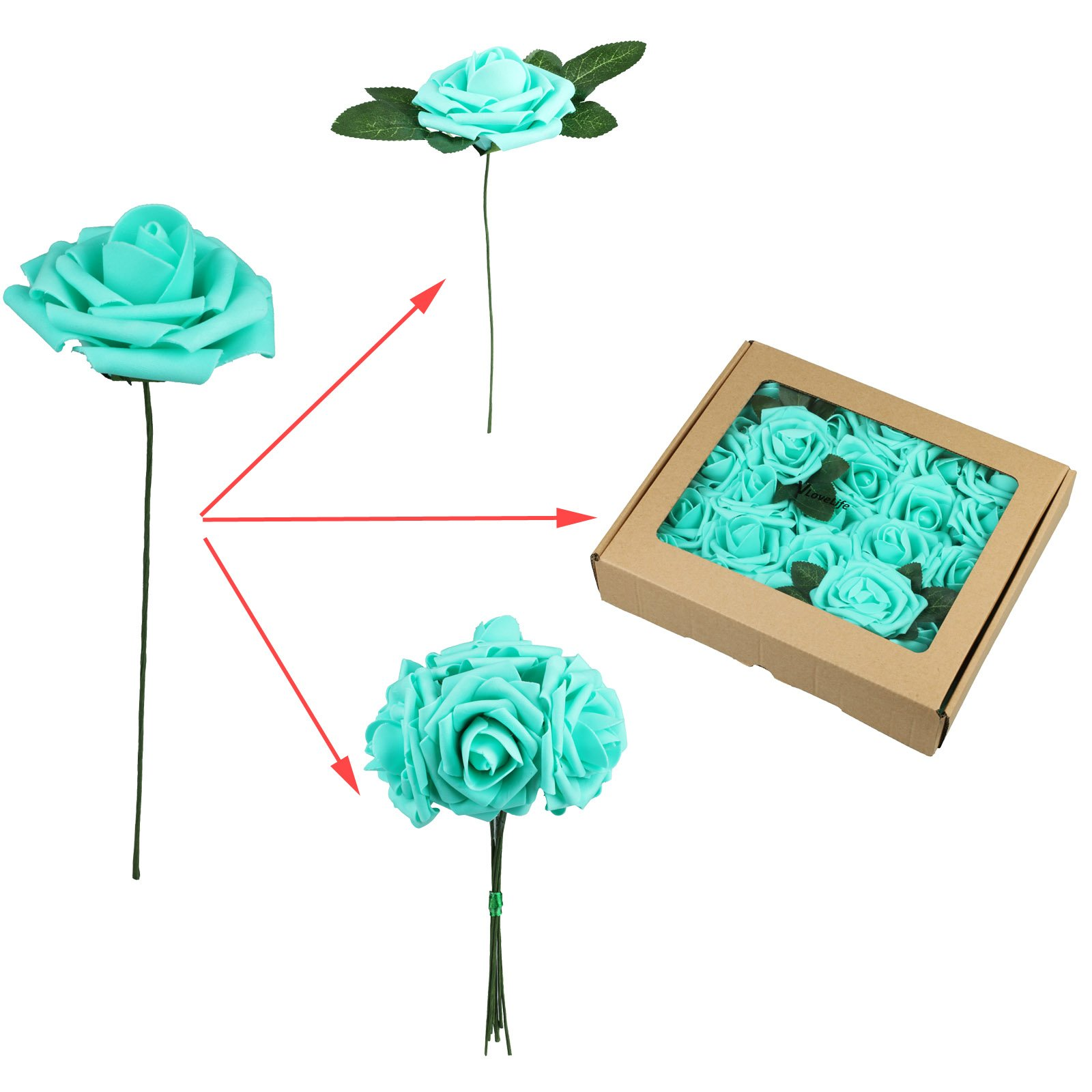 Fivejorya-50pcs-Teal-Blue-Artificial-Roses-Flowers-With-Stems-Real-Looking-Fake-Roses-for-DIY-Wedding-Bouquets-Centerpieces-Arrangements-Birthday-Home-Party-Decor-Favor