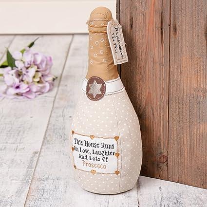 Tope para puerta con diseño de botella, ideal para cualquier estilo de casa