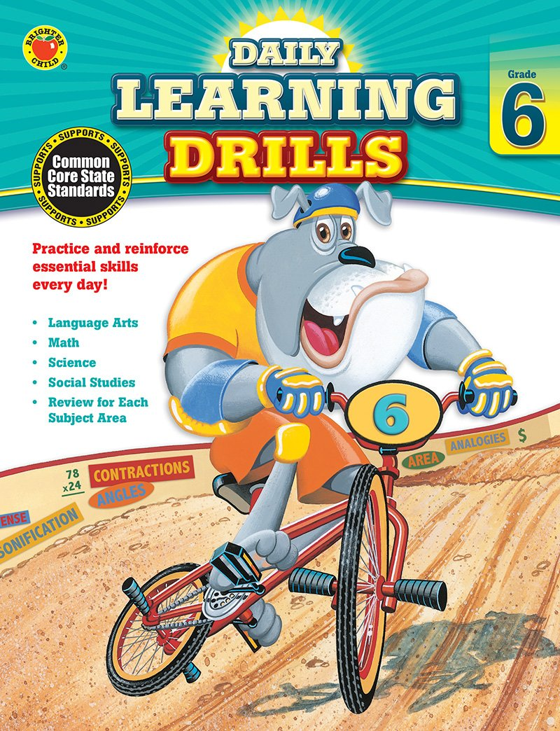 Daily Learning Drills, Grade 6 by Carson-Dellosa