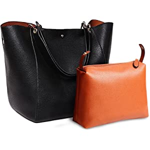 f6f259e85619 Aosbos Tote Bag for Women Leather Handbags Shoulder Bags Large Hobo Purse  Work Travel
