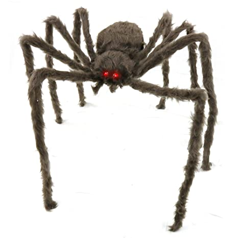 Big Mos Toys Creepy Spider Hairy Real Look Tarantula Spider With Red Led Eyes 1 Piece
