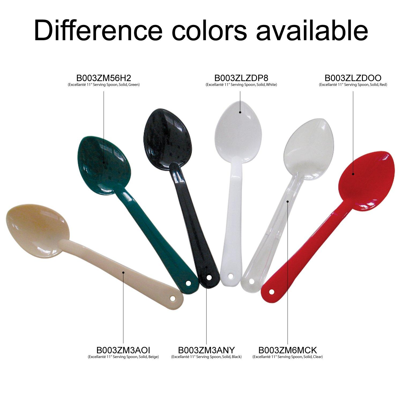Polycarbonate Excellant/é 11-Inch Serving Spoon Solid Beige