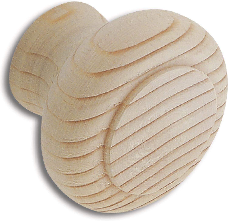 meubles Boutons V105A032S197 meubles poign/ées secotec Meubles Bouton 30/mm manche brut boutons en bois SB de 1 tiroir H/être