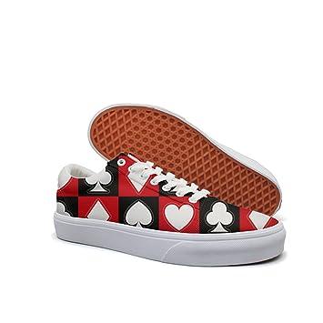 Amazon.com: Zapatos personalizados de póquer con patrón de ...