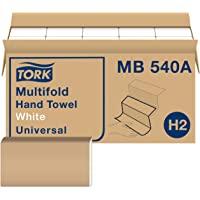 Tork Toalla de mano multiplegable, blanco, H2, universal, 3 paneles, 100% fibras recicladas, 1 capa, 16 x 250 hojas…