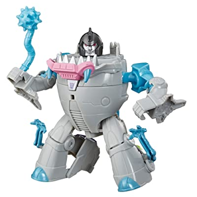 "Transformers Toys Cyberverse Action Attackers Warrior Class Gnaw Action Figure - Repeatable Mace Mash Action Attack - for Kids Ages 6 & Up, 5.4"": Toys & Games"