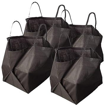4 x transpirable Saco de jardín Compost Saco 512 L también se puede utilizar como compostador