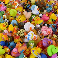 The Dreidel Company Assortment Rubber Duck Toy Duckies for Kids, Bath Birthday Gifts Baby Showers Classroom Incentives, Summer Beach and Pool Activity, 2