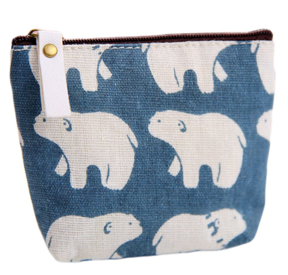 Monbedos Polar Bear Coin Purse Purse Pouch Bag Women Wallet Coin Bag for Coin, Credit Card, Keys, Headset, Lipstick, Card, Lipstick size 11.59.5CM