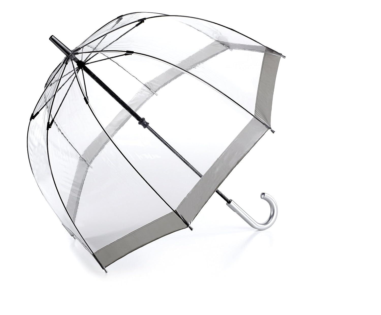 Famoso paraguas transparente Fulton de color gris. Opción de mas colores.