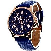 Geneva Platinum Analog Blue Dial Women's Watch-GP-083