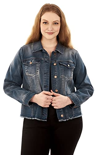 Angels Jeans Women S Plus Size Signature Denim Jacket At Amazon
