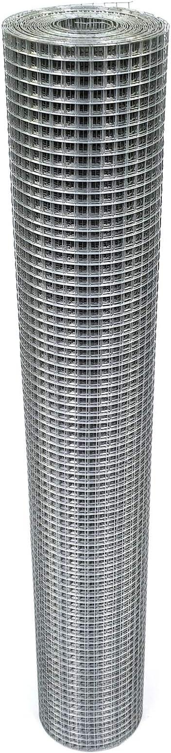 50cm x 25m, 1,00mm dick Volierendraht Verzinkt 12x12mm 4-Eck Maschendraht Drahtgitter