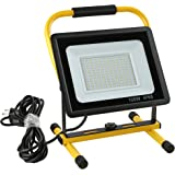 Gopretty 100W LED Work Light, 12000LM Super Bright Flood Lights With Stand, IP66 Waterproof, 16ft Cord with Plug & Switch, 60