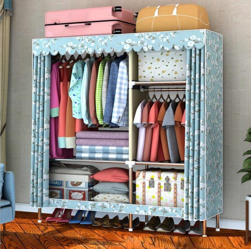 GY&H Garde-robe Le stockage portatif d'organisateur de cabinet de tissu d'Oxford habille les étagères durables robustes