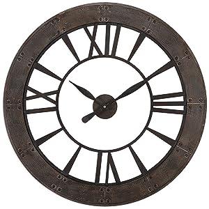 Uttermost 06085 Ronan Wall Clock, Brown