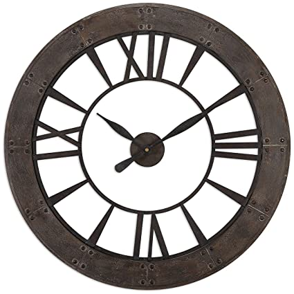 292fd67d61e7 Image Unavailable. Image not available for. Color: Uttermost 06085 Ronan  Wall Clock ...