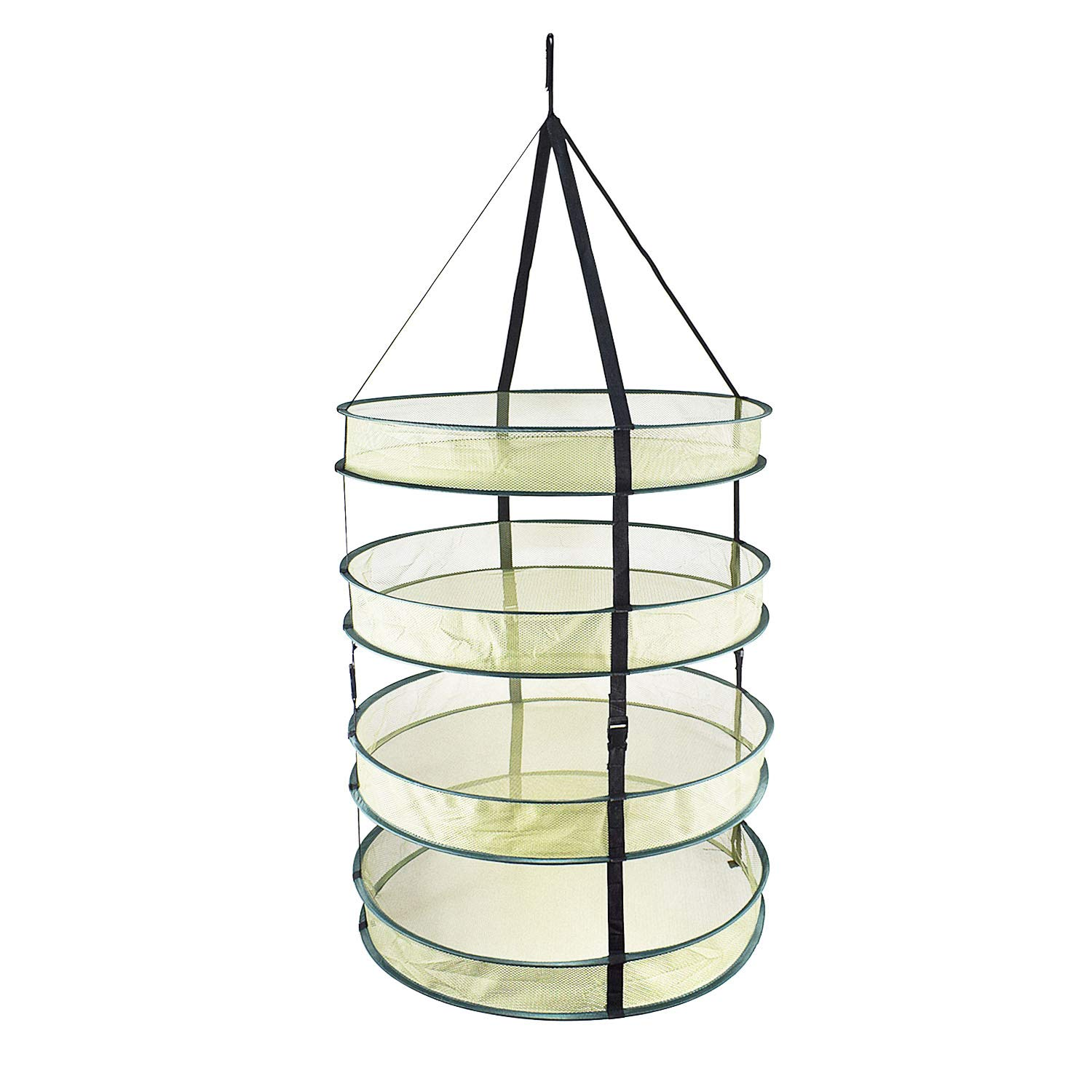 Drying Net Drying Rack for Herbs Adjustable Detachable Dryer Collapsible Hangning Dryer 4-Layers by Eachon