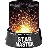 Rmote Star Master LED Night Starry Light Lamp Projector Relaxing Mood Bedroom Living Room Luminous (Black)