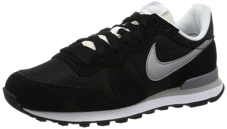 Nike Herren Internationalist Sneaker  38.5 EU|Schwarz (Black/White/Flat Silver/Metallic Silver)