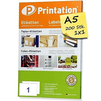 Livraison Étiquettes dadresses A5 200 Stk. 210 x 148,5 mm auto-adhésif Blanc – 200 DIN A5 Arc à 1 x 1 210 x 148 mm – 6135 8690