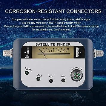 SF-07 Buscador de satélites Identificador de señal Receptor de satélite Receptor de televisión Medidor de Intensidad del Sistema Puntero del Detector con ...