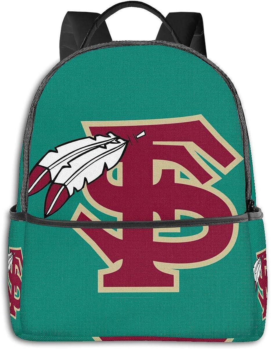 N/C Backpack Travel FSU School Bags Shoulder Laptop Backpack Men Ladies Girls Schoolbags