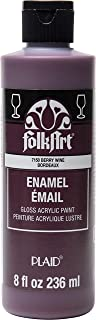product image for FolkArt Gloss Acrylic Enamel Paint in Assorted Colors, 8 oz, Berry Wine