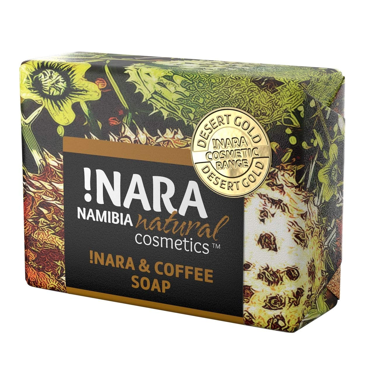 Nara Soap Bar with Coffee & Cinnamon, Handmade Natural Organic Oil Soap for Daily Facial and Body Care, Vegan (1x80 gr)