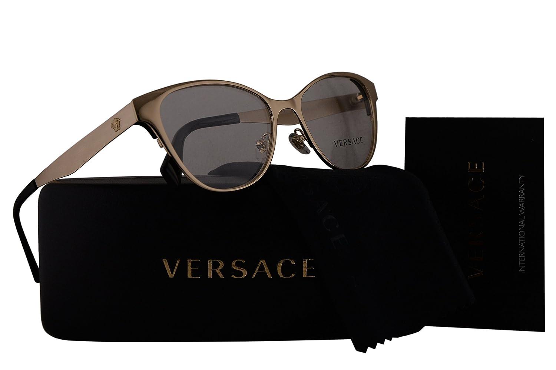 ce84e471ae0 Amazon.com  Versace VE1245 Eyeglasses 53-16-140 Pale Gold w Demo Clear Lens  1252 VE 1245  Clothing