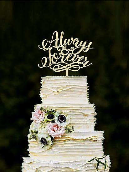 Amazon.com Always \u0026 Forever Wedding Cake Topper, Unique