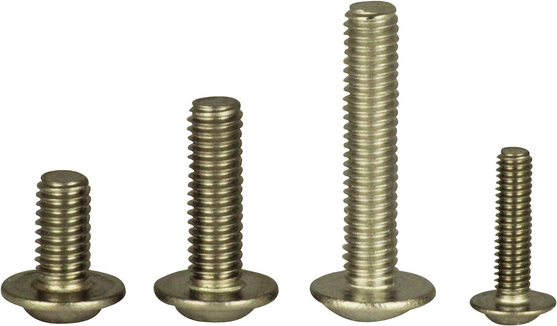 Linsenkopfschrauben mit Bund V2A Zaunbauschrauben 10 St/ück Flachkopfschrauben mit Flansch u ISR ISO 7380 Edelstahl A2 - - M6x100 D/´s Items/® Innensechsrund - Flanschschrauben