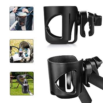 Portavasos universal, Portavasos para cochecitos, Portavasos diseñados para calibre grande, Soporte universal para bebidas en vasos con rotación de 360 ...
