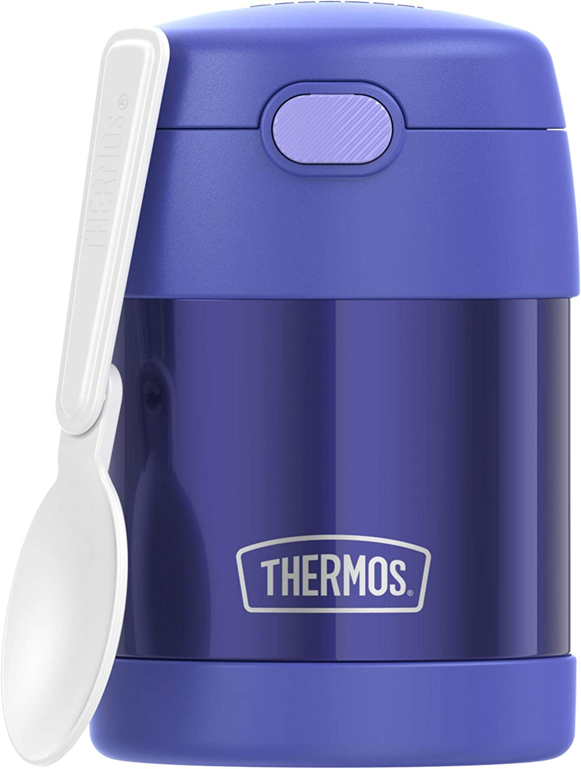 THERMOS FUNTAINER 10 Ounce Stainless Steel Kids Food Jar, Purple