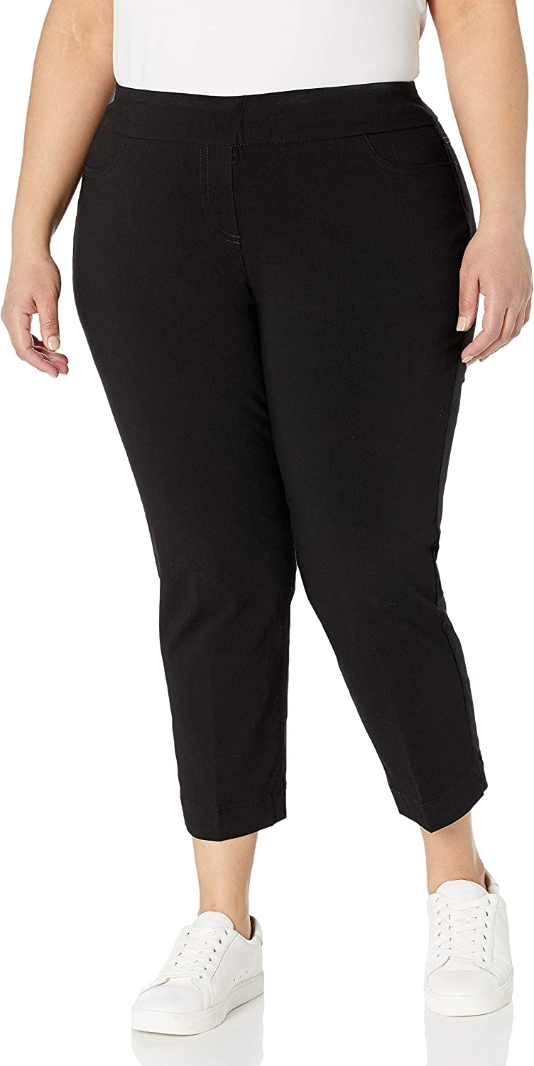 SLIM-SATION Super intense Max 44% OFF SALE Women's Pull on Skinny Solid Faux Pocket with L Crop